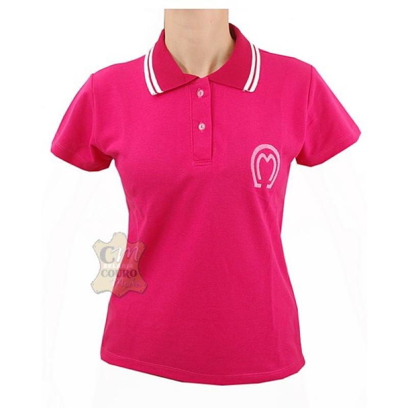 b352b18af9680 Camisa Polo Feminina Mangalarga Marchador