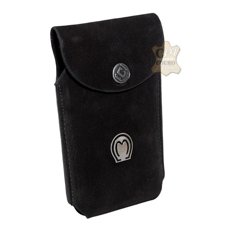Porta Celular de couro Mangalarga Broche 6ee1096043c