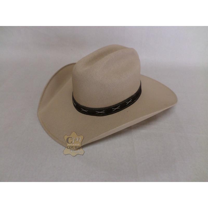 Chapéu de Palha Encerada Americano Aba Dobrada 8c0e553370a
