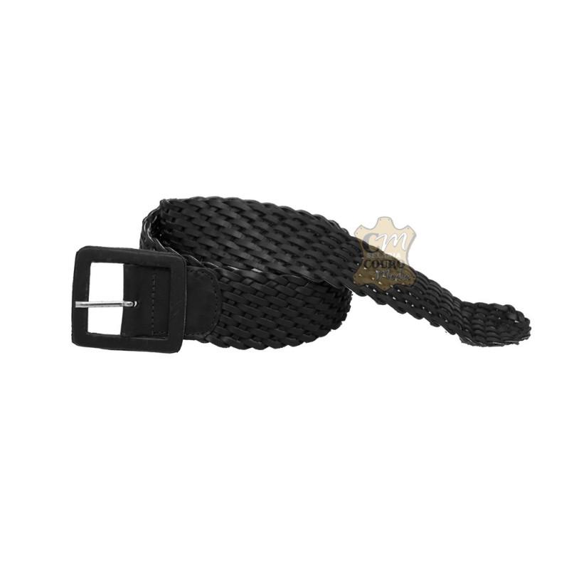 Cinto de couro Feminino Trançado com Fivela Encapada 5 cm Largura 7087075c6cf