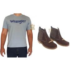 Kit Masculino Wrangler Botina + Camisa