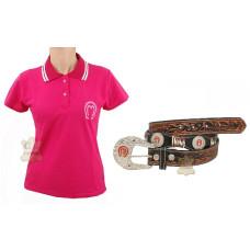 Kit Mangalarga Feminino Camisa + Cinto Country