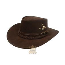 Chapéu  De Couro Texano Tranças REF: 02