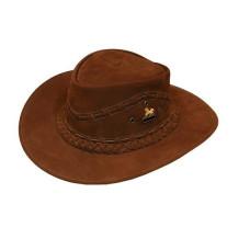 Chapéu de Couro Texano Tranças