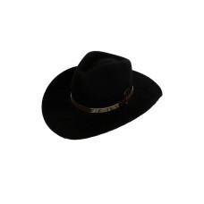 Chapéu de Lã Americano Tira de Cobra