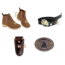 Kit Infantil Botinha + Bainha de Canivete + Cinto Cowboy + Fivela