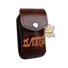 Porta Celular de Couro ABQM