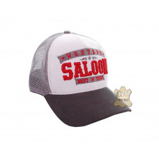 Boné Country Saloon Branco / Cinza