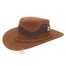 Chapéu de Couro Bicolor