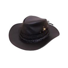 Chapéu de Couro Liso com tranças