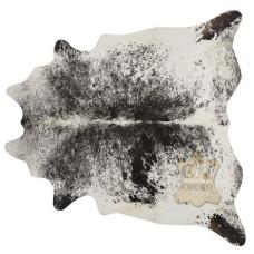 Tapete de couro pele bovina inteira REF: Salt Pepper Preto e Branco