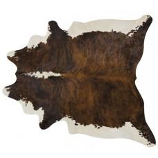 Tapete de couro pele bovina inteira REF: exótico Barriga e espinha branca
