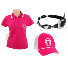Kit Country Feminino Camisa Mangalarga+ Cinto Country+ Boné