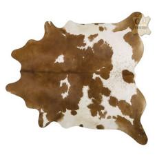 Tapete de couro pele bovina inteira REF: Marrom-Branco Especial