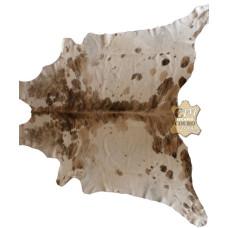 Tapete de couro pele bovina inteira REF: Exótico Bege