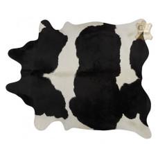 Tapete de couro pele bovina inteira REF: Preto-Branco Especial