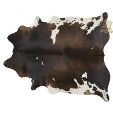 Tapete de couro pele bovina inteira REF: Preto-Branco Avermelhado