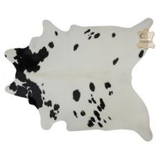 Tapete de couro pele bovina inteira REF: Preto-Branco Regular